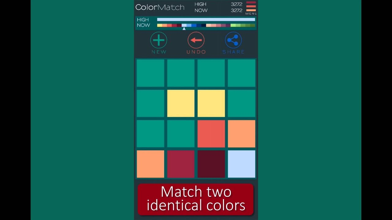 Colors That Match Turquoise 2048 Color Match Free Game Preview Youtube