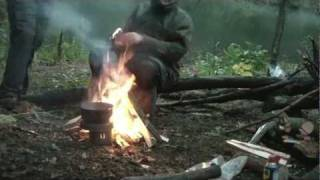 Bivouac Backcountry Camping Survival Skill Priorities - Fire Wood and Making Shelter
