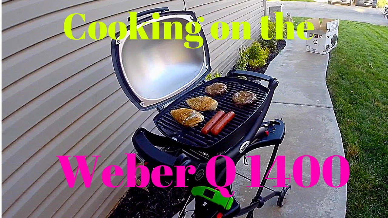 Weber Elektrogrill Q 1400 Vs 2400 : Cooking on the weber q youtube