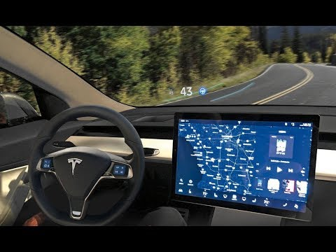 Tesla heads up display
