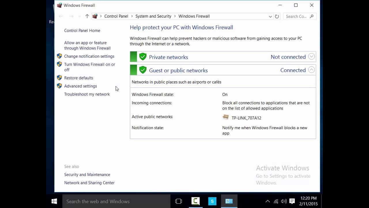 Windows 10 turn onoff firewall youtube windows 10 turn onoff firewall ccuart Images