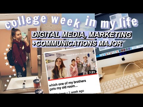 college week in my life: digital media, marketing + communications major/ IN A HANNAH MELOCHE VIDEO!