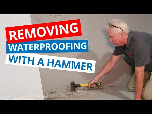 Removing Basement Waterproofing with a Hammer | The One-Fifth System