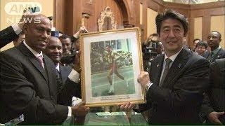 「私もアベベ」総理がエチオピアで五輪談議(14/01/14)