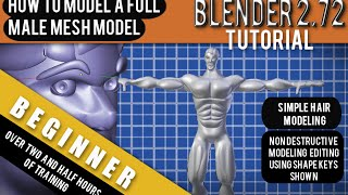 How To Model A Full 3d Human Male Mesh in Blender 2.72b