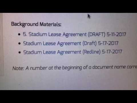 New Oakland Raiders Las Vegas NFL Stadium Lease Agreement Just Posted At 3 AM EST