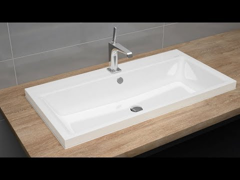 Countertop Washbasin With Overflow Installation Puro And - Wachbecken