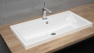 Countertop washbasin with overflow installation | PURO and SILENIO | KALDEWEI