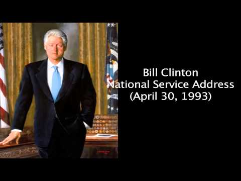 Bill Clinton  National Service Address April 30, 1993)