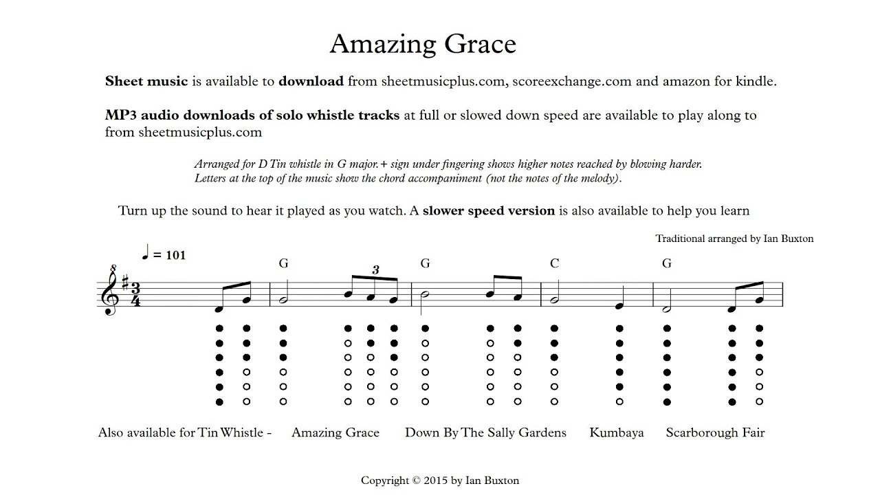 Learn how to play amazing grace on tin whistle with chords learn how to play amazing grace on tin whistle with chords arranged by ian buxton hexwebz Images