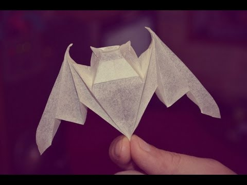 3 origami luck bat by michael lafosse yakomoga origami. Black Bedroom Furniture Sets. Home Design Ideas