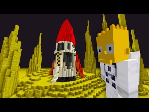 Bart Simpson Trip To The Moon | The Simpsons  | Minecraft Xbox [57]