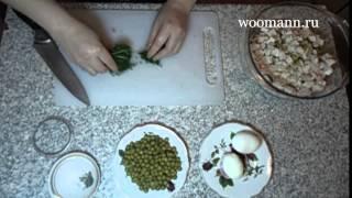 Салат Оливье Столичный салат на праздник /Salad Oliver/Paytaxt salati/Olivye salatası