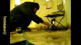 Ловля леща зимой. Десногорское вдхр. Смоленская обл.(Ловим леща зимой 2010г. 4-6 января. Палатка, снасть