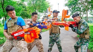 Nerf War: Marines American Nerf Battle Squad Mercenary Fight Special Task NERF MOVIES