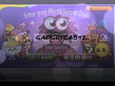 moshi monsters secret codes for gadget cabinet - YouTube