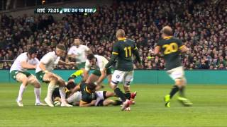 Tommy Bowe Try Ireland V South Africa Autumn International 2014 HD