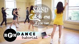 "SNSD ""Catch Me If You Can"" Dance Tutorial (Choruses)"