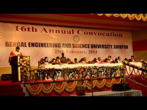 16th Annual Convocation of Bengal Engineering & Science University, Shibpur, 2014 - Part 3