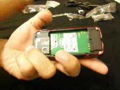 Nokia 5800 unbox and SIM