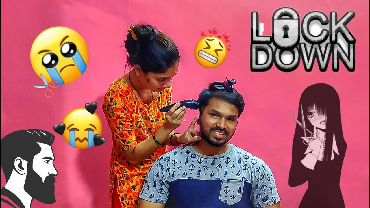 Lockdown Ke Chalte , Wife👩‍🦰 Ne Kate Baal 💇.....| INDIA | Vlog #5