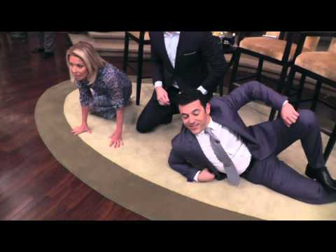 LIVE with Kelly and Michael: Sam Heughan Floor Photo Shoot