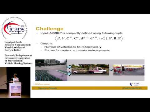 """ICAPS 2015: """"Dynamic Redeployment to Counter Congestion or Starvation in Vehicle Sharing Systems"""""""