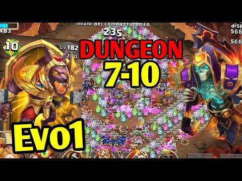 INSANE Dungeon 7-10 100% - GRIZZLY REAPER 11/11 WARGOD 8/8! Saluto Tutti! | Castle Clash ITA