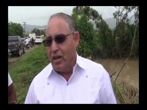 Lluvias causan estragos en la provincia Valverde