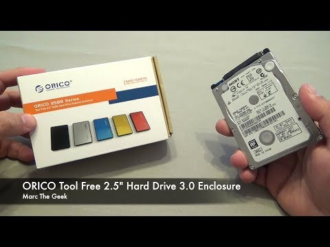 "ORICO Tool Free 2.5"" Hard Drive 3.0 Enclosure - For Your PS4, PS3 or Laptop Old HD"