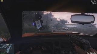 GTA V PC Max Settings Intense Police Chase