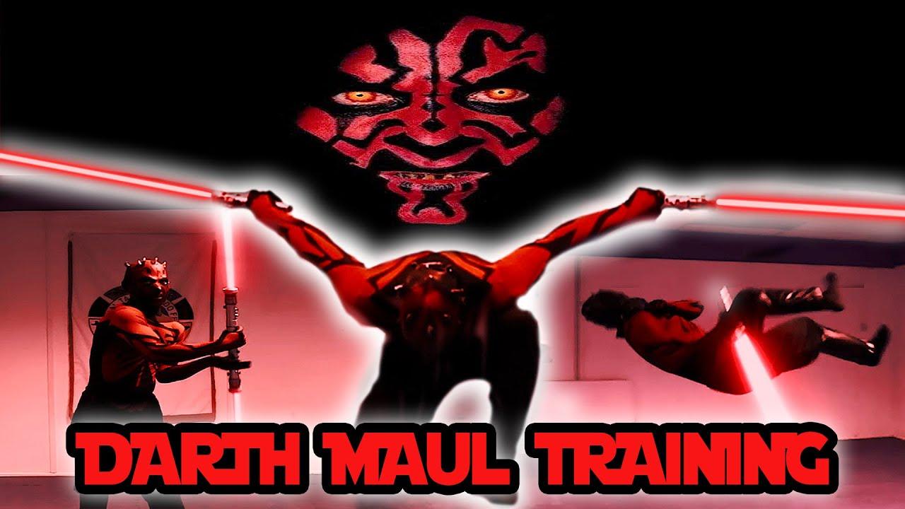 Darth Maul Lightsaber Training | Star Wars In Real Life | Flips & Kicks