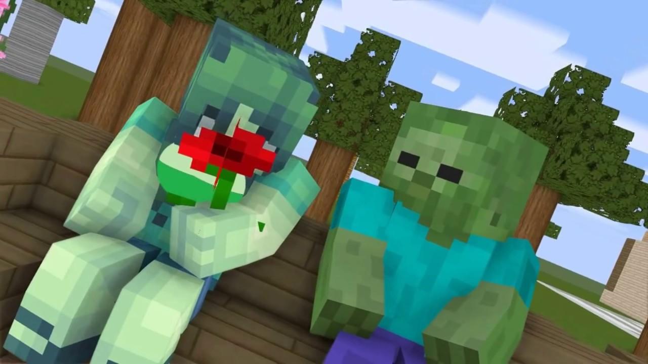 Monster School | Zombie Love | Minecraft Animation