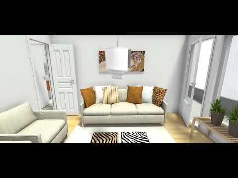 exemple de home staging 3d int gr dans une visite virtuelle 3d youtube. Black Bedroom Furniture Sets. Home Design Ideas