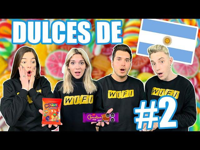 Probando dulces Argentinos #2 con Exi, Candela Díaz y Sasha Ferro * Chami