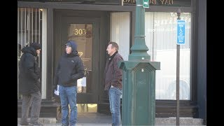 Liam Neeson on Main Street in Worcester to film 'Honest Thief'