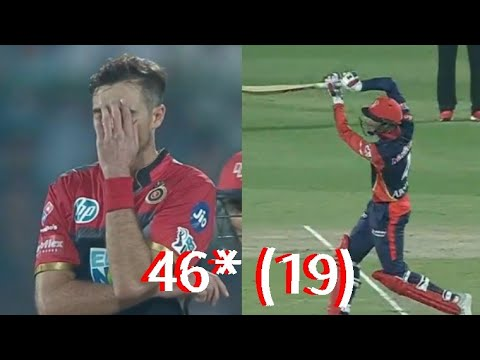 Abhishek Sharma's Dream Debut - 46* runs in 19 balls in IPL DEBUT- RCBvsDD - twitter HIGHLIGHT!!!