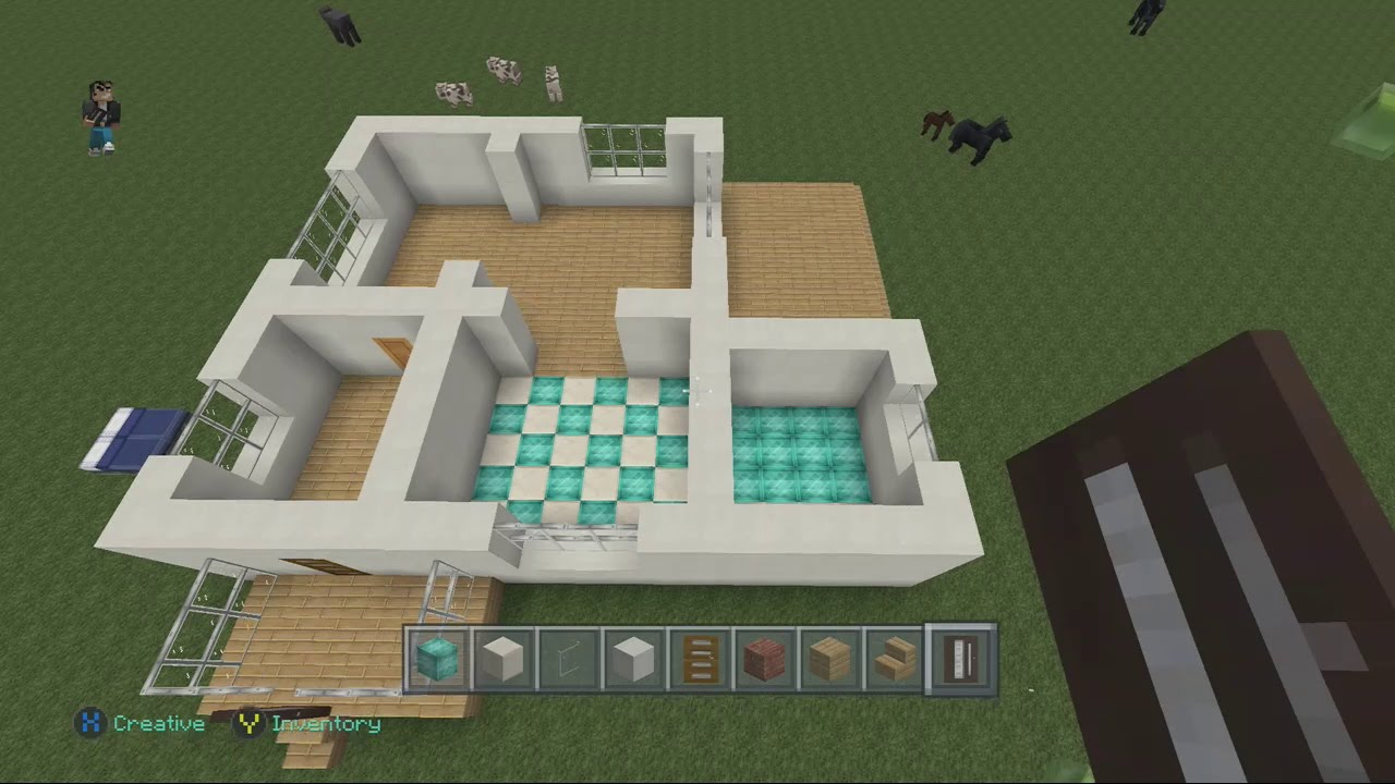 Minecraft Xbox Modern House Building with City Texture Pack Part 1