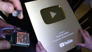 يوتوب تصدر شكل جديد لدرع المليون مشترك