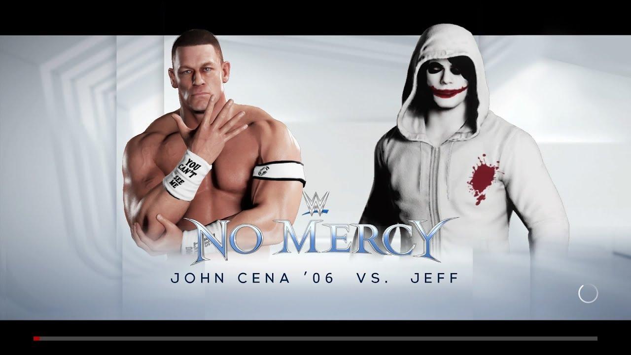 WWE 2K18 - John Cena vs  Jeff The Killer