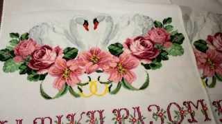 Свадебный и пасхальный рушники. ВЫШИВКА КРЕСТИКОМ