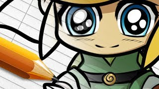 How to Draw Chibi Link From Legend of Zelda - Full Digital Art Course - HD