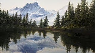 Mountain Mirror Reflection | Paint with Kevin ®