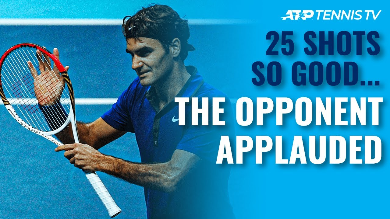 25 Tennis Shots SO GOOD the Opponent Had to Applaud ?