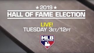 2019 Baseball Hall Of Fame Election Announcement Live Reaction