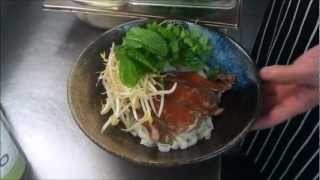 How to make pho .laos  noodle soup by linsan