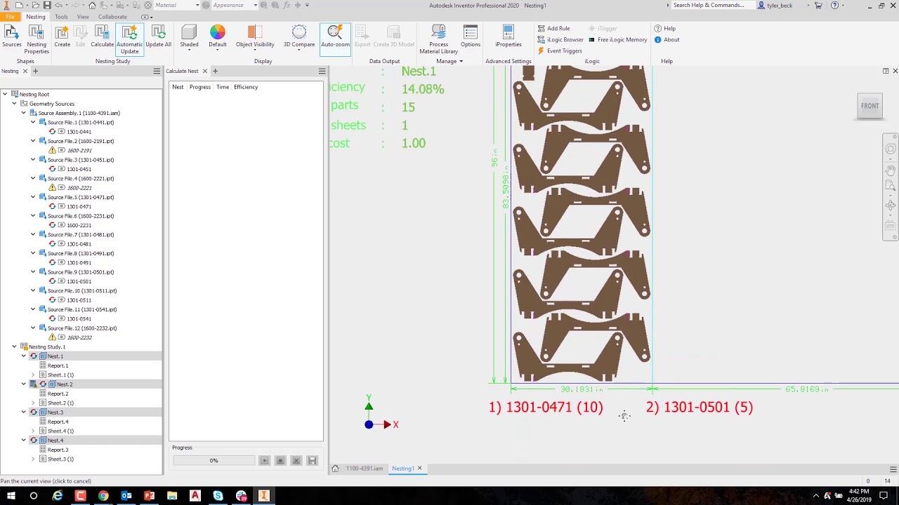 Autodesk Inventor Nesting 2020 Overview