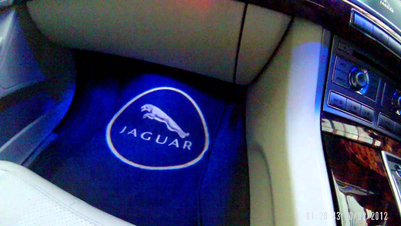 jaguar xf logoghost lights youtube