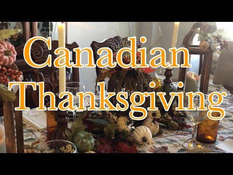 THANKSGIVING TABLE  SIMPLE CENTERPIECE (CANADIAN THANKSGIVING)