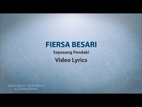 Fiersa Besari - Sepasang Pendaki (Lyrics Video)